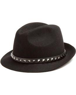 Rockstud Fur-felt Hat