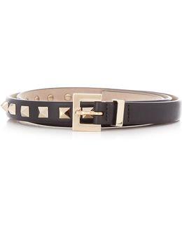 Rockstud Skinny Leather Belt