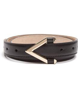 Monogram Skinny Leather Belt