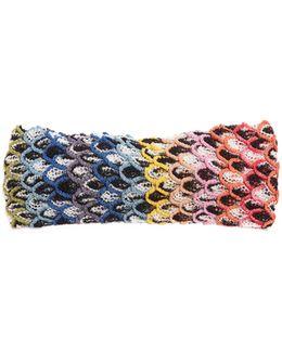 Feathered Crochet-knit Headband