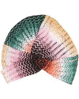 Zigzag-knit Turban