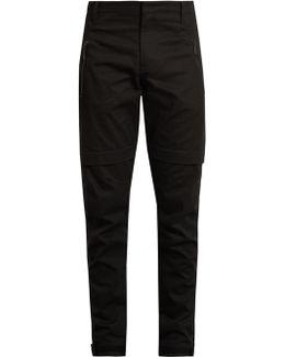 Damian Zipped-cuff Cotton-twill Trousers