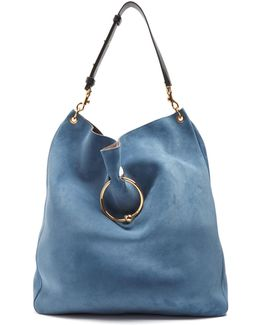 Pierce Hobo Large Suede Shoulder Bag