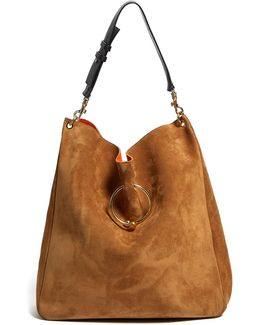 Pierce Large Suede Shoulder Bag
