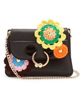 Pierce Mini Crochet-appliqué Cross-body Bag