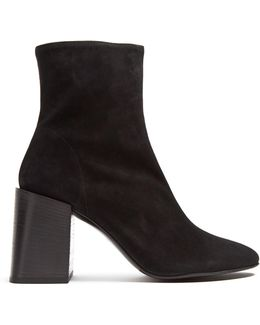Saul Square-heel Suede Ankle Boots