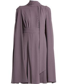 Cape-back Crepe Dress