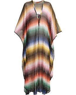 Striped Lace-up Kaftan