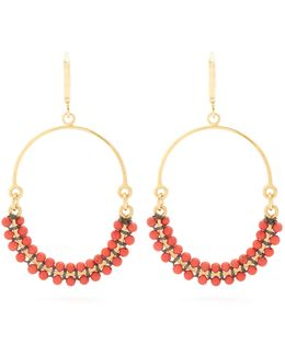 Perky Beaded Hoop Earrings