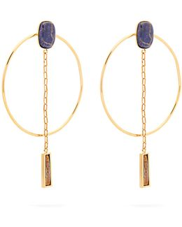 Dancing Hoop And Pendant-drop Earrings