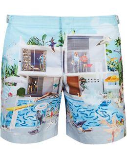 Bulldog Sanda Anderlon-print Swim Shorts