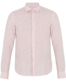 Morton Point-collar Linen Shirt