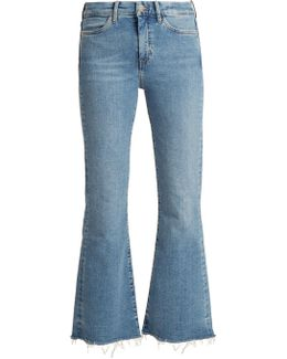 Lou High-rise Flared Cropped Jeans