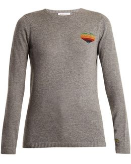 Disco Heart Cashmere-blend Sweater