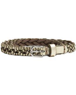 Braided Leather Waist Belt