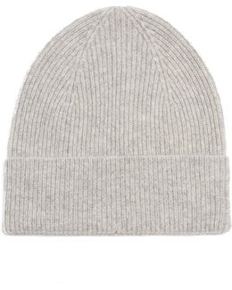 Chilton Ribbed-knit Cashmere Beanie Hat