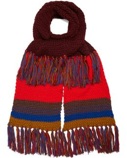 Contrasting Wool Scarf