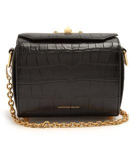 Box 19 Crocodile-effect Leather Cross-body Bag