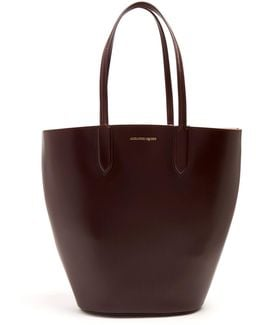 Basket Small Leather Tote