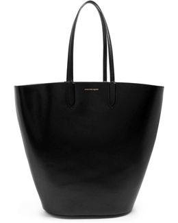 Basket Large Leather Tote