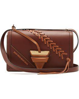 Barcelona Large Laced-leather Shoulder Bag