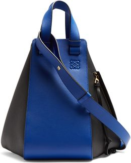 Hammock Contrast-panel Leather Tote