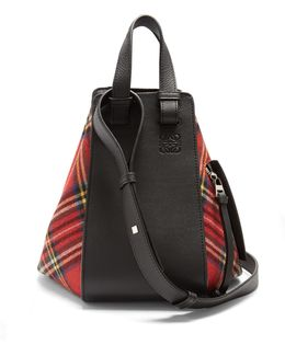 Hammock Small Tartan And Leather Tote