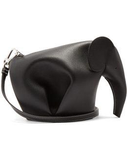Elephant Mini Leather Cross-body Bag