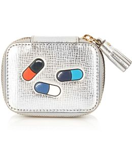 Pills Small Grained-leather Keepsake Box