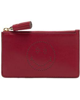 Smiley Leather Cardholder