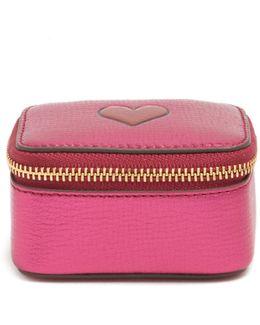 Heart Small Grained-leather Keepsake Box