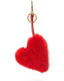 Heart Fur Key Ring