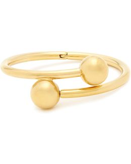 Double-sphere Gold-plated Bangle