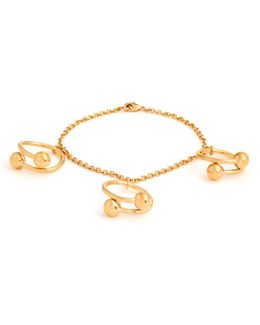 Double-sphere Gold-plated Bracelet