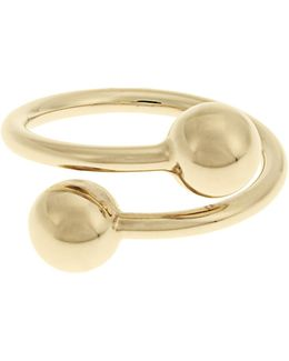 Double-sphere Gold-plated Ring