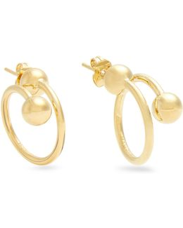 Double-sphere Gold-plated Earrings