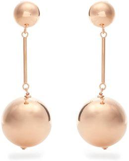 Sphere Drop Gold-plated Earrings