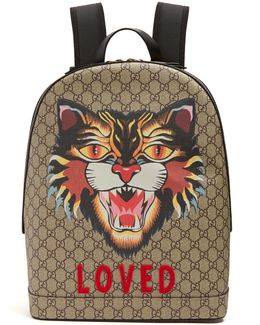 Angry Cat-print Gg Supreme Backpack