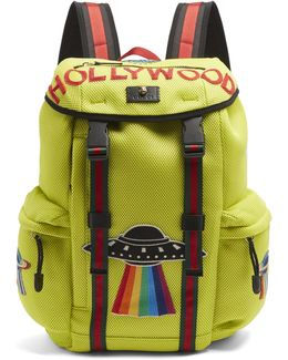 Hollywood-embroidered Mesh Backpack
