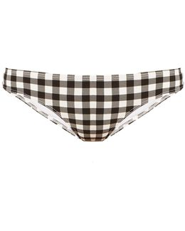 Gingham Low-rise Bikini Briefs