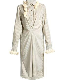 Striped Tassel-embellished Shirtdress