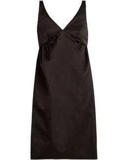 V-neck Duchess Satin Dress
