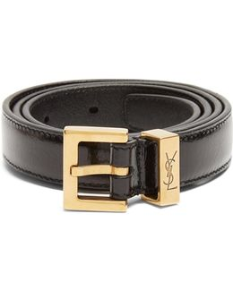 Monogram Passant Leather Belt