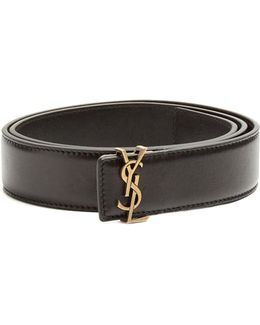 Monogram Leather Waist Belt