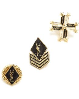 Set Of Three Army Brooches