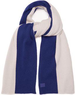Nabil Colour-block Wool Scarf
