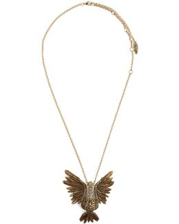Crystal-embellished Swan Necklace