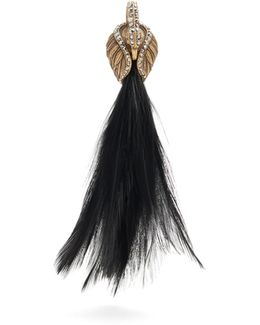 Feather-embellished Swan Single Earring