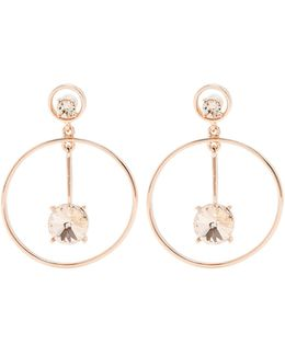Crystal-embellished Drop Earrings