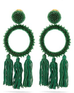 Bead-embellished Clip-on Earrings